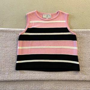 ST John Santana Knit Sleeveless Striped Top